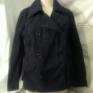 H&M Hennes Button Black Coat Blazer Large 18